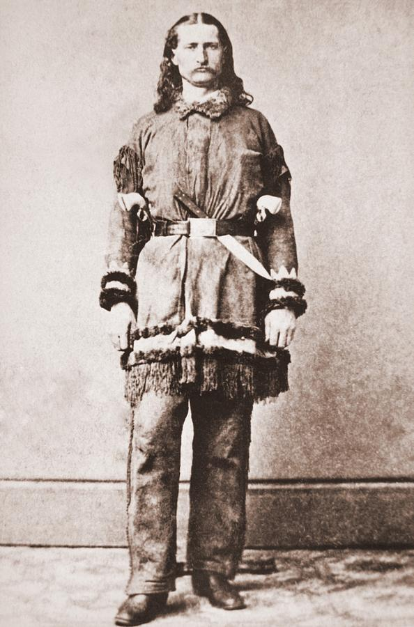 Wild Bill Hickok Portrait In Buckskins Photograph