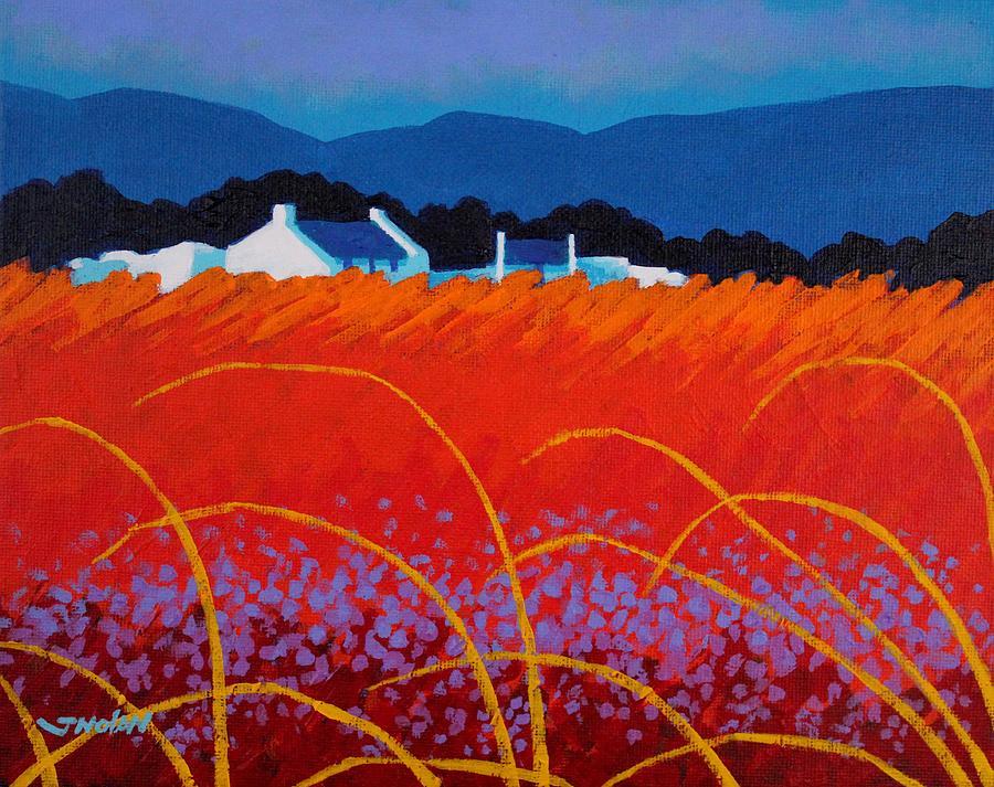 Landscape Painting - Wild Flowers County Wicklow by John  Nolan
