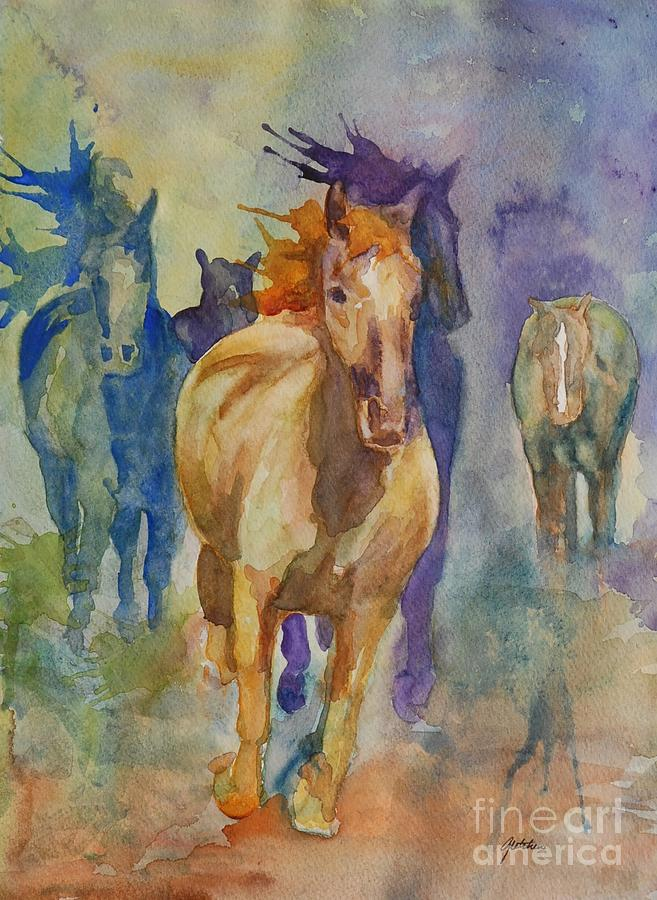 Wild Horses Painting - Wild Horses by Gretchen Bjornson