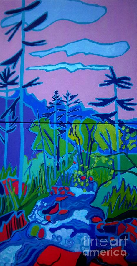 Landscape Painting - Wildcat River Jackson Nh by Debra Bretton Robinson
