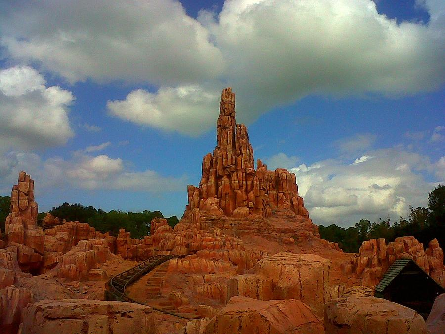 Big Thunder Mountain Railroad Photograph - Wildest Ride by Rachel E Moniz