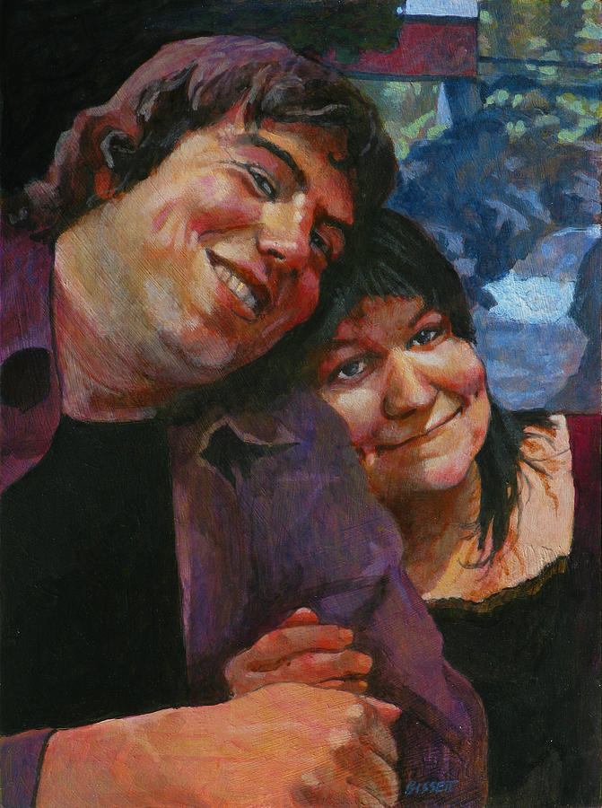 Portrait Painting - Will And Britta by Robert Bissett