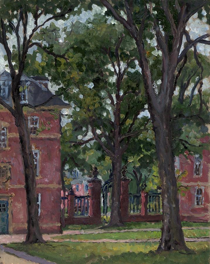 Oil Painting - Williams College Frosh Quad by Thor Wickstrom