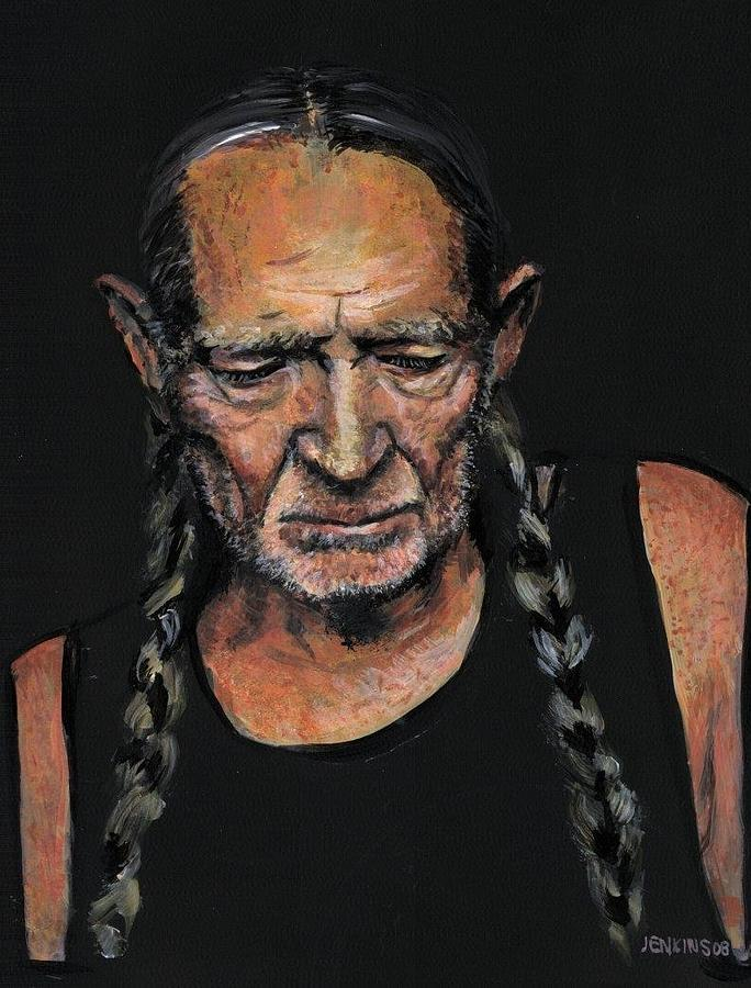 Willy Nelson Painting - Willie by Sean David Jenkins