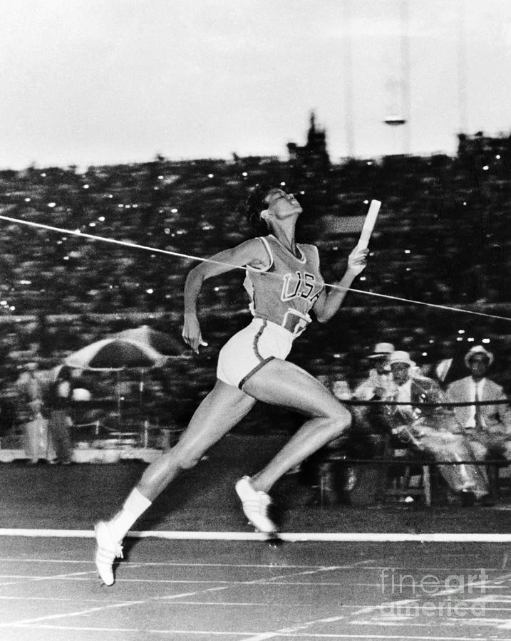 1960 Photograph - Wilma Rudolph (1940-1994) by Granger