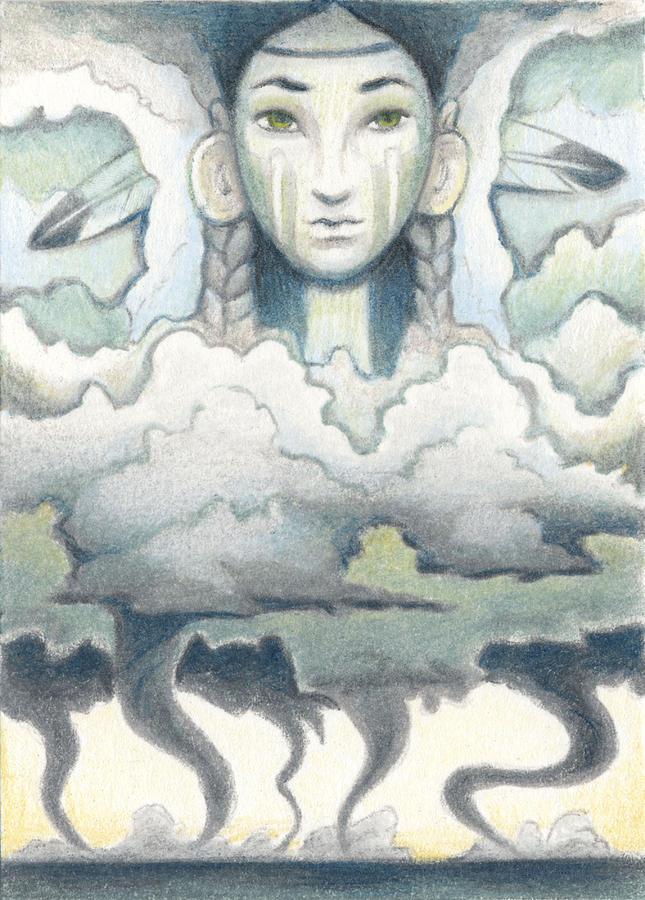 Wind Spirit Dances Drawing