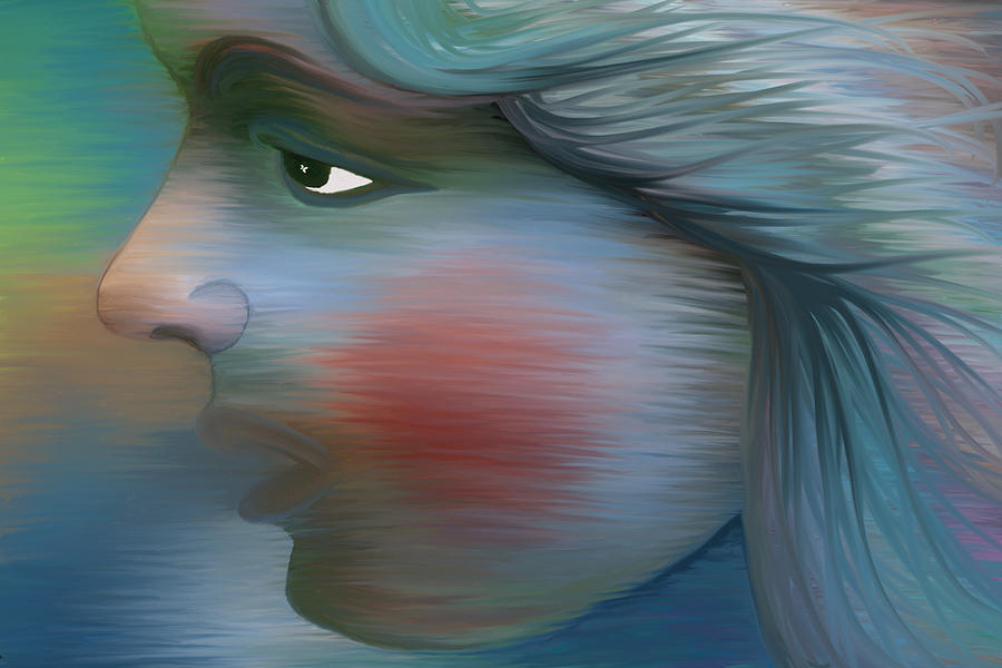 Profile Digital Art - Windswept by Holly Ethan