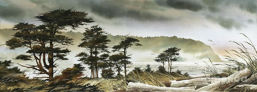 Windswept Shore Painting