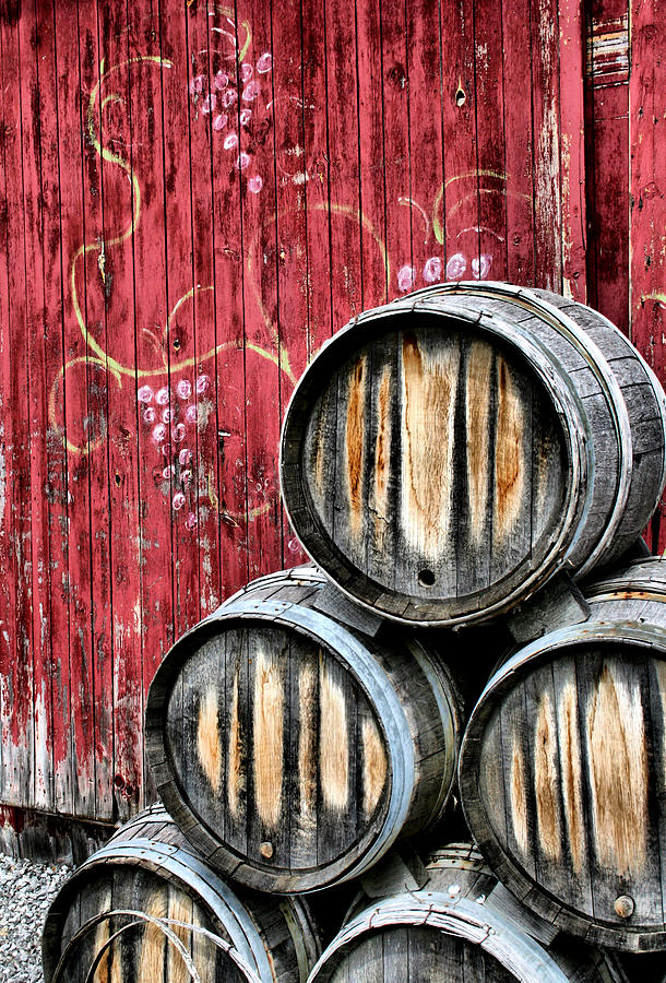 Wine Photograph - Wine Barrels by Doug Hockman Photography