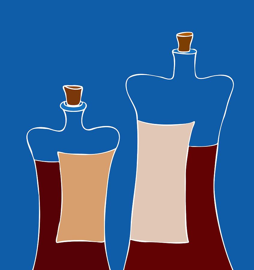 Frank Tschakert Painting - Wine Bottles by Frank Tschakert