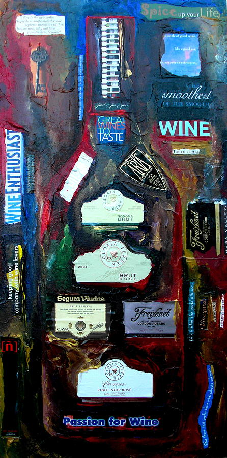 Winery Painting - Wine Enthusiast by Patti Schermerhorn