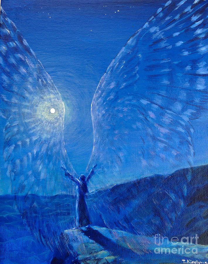 Visionary Painting Painting - Winged by Tatiana Kiselyova