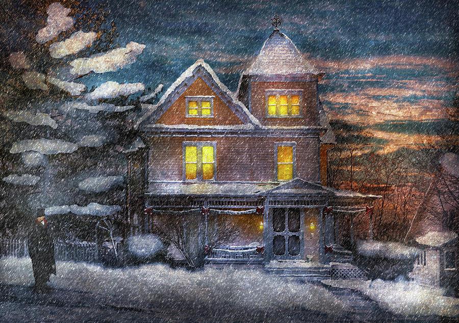 Winter - Clinton Nj - A Victorian Christmas Photograph