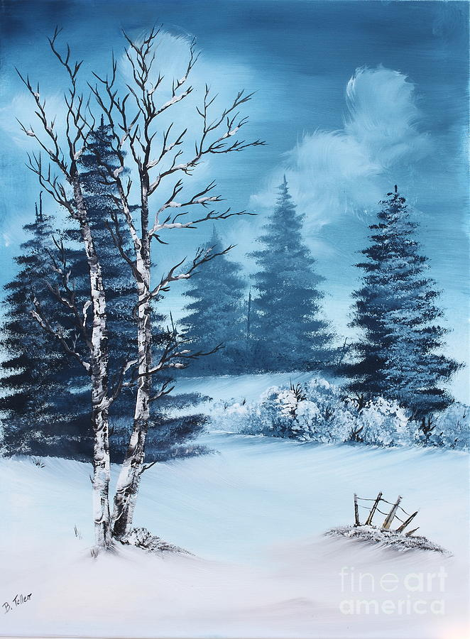 Winter Painting - Winter by Barbara Teller