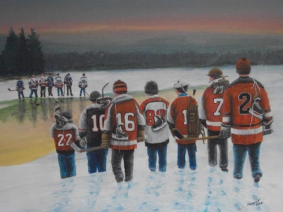 Winter Painting - Winter Classic 2012 by Ron  Genest