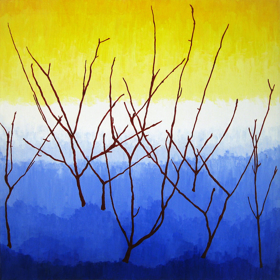 Nature Painting - Winter Dogwood by Oliver Johnston
