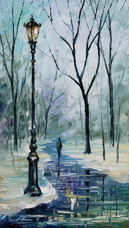 Afremov Painting - Winter Light by Leonid Afremov