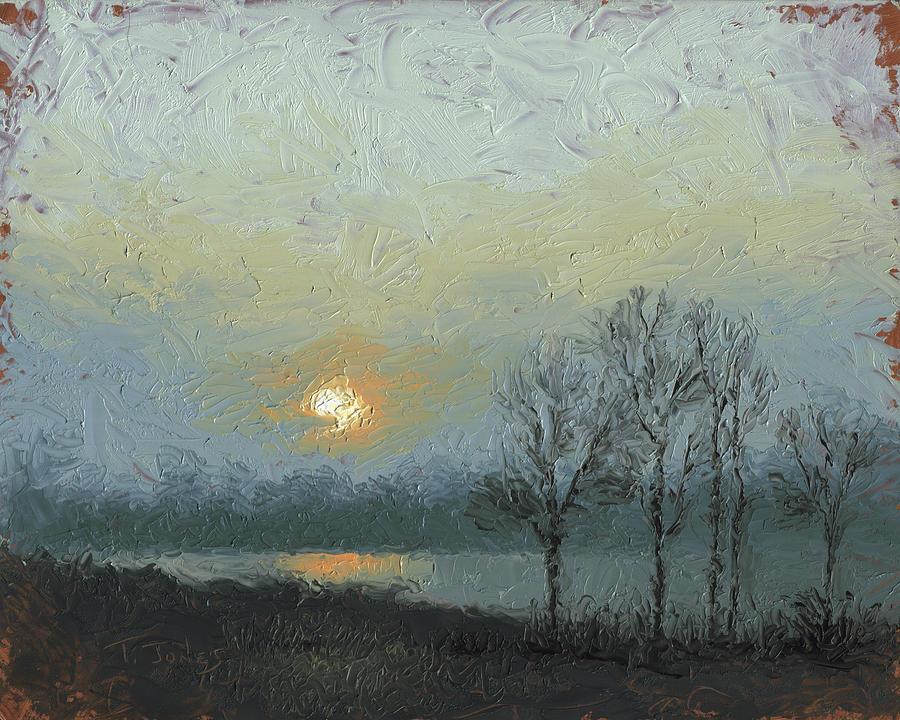Arkansas Painting - Winter Mist by Timothy Jones