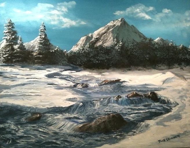 Landscape Painting - Winter Mountain Stream by Jack Skinner