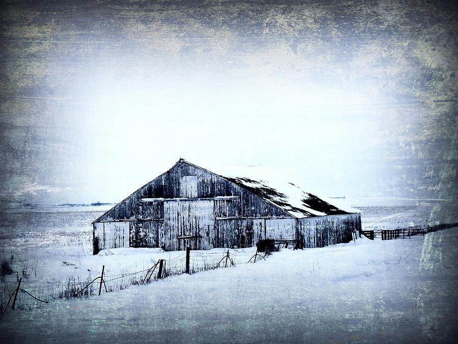 Barn Photograph - Winter Scene by Julie Hamilton