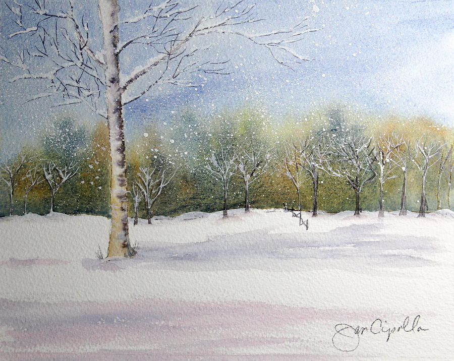 Snow Painting - Winter Silence by Jan Cipolla