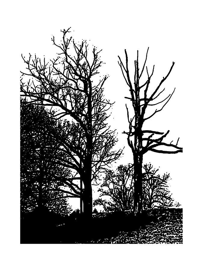 Winter Tree 2 Mixed Media