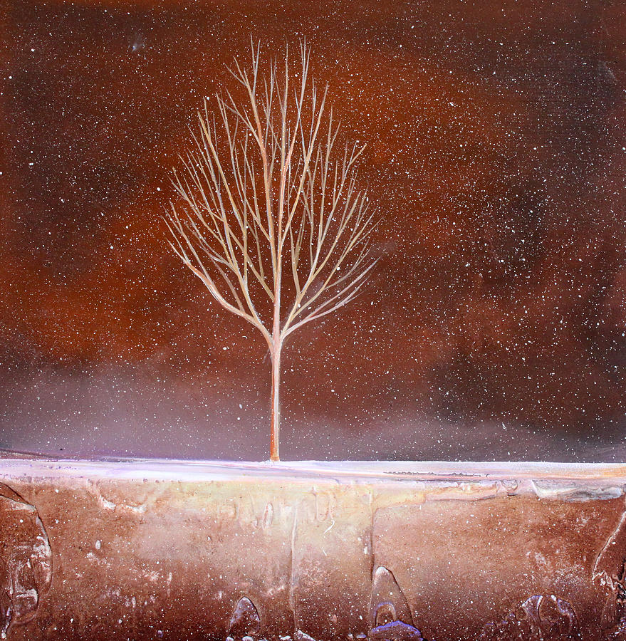 Tree Painting - Winter Tree by Toni Grote