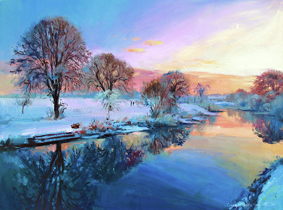 Trees Painting - Winter Trees by Conor McGuire