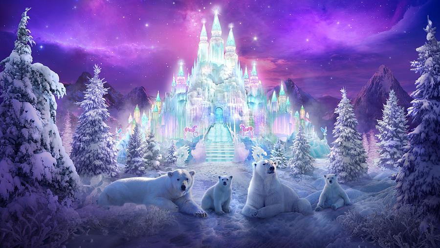 Polar Bears Painting - Winter Wonderland by Philip Straub