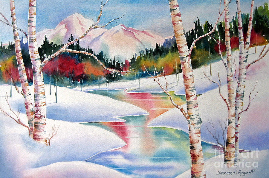 Snow Painting - Winters Light by Deborah Ronglien