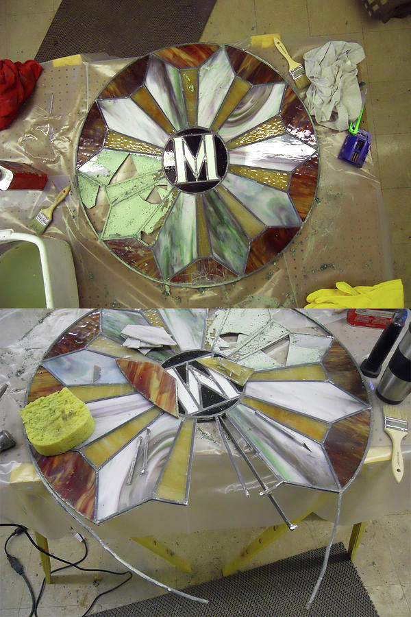 Painting - Wip-stain Glass by Cindy D Chinn