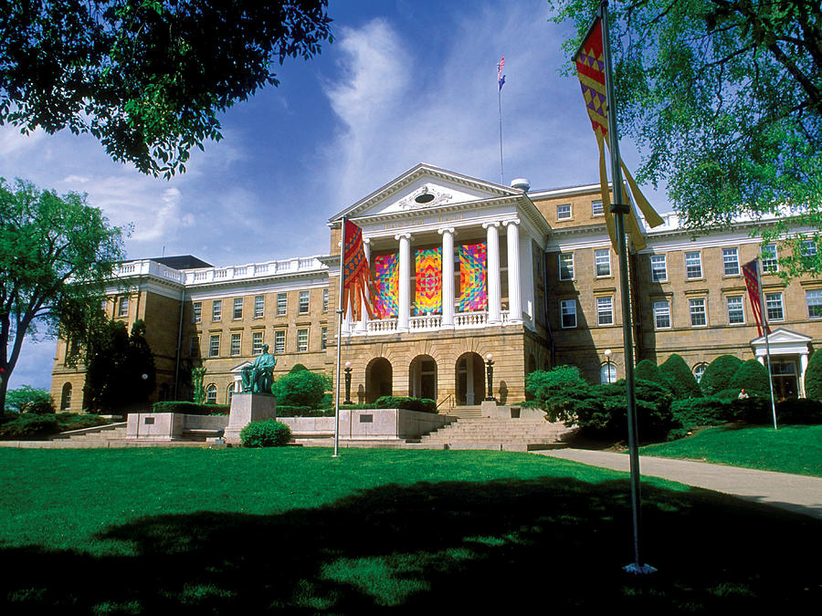 University Of Wisconsin Photograph - Wisconsin Bright Colors At Bascom by UW Madison University Communications