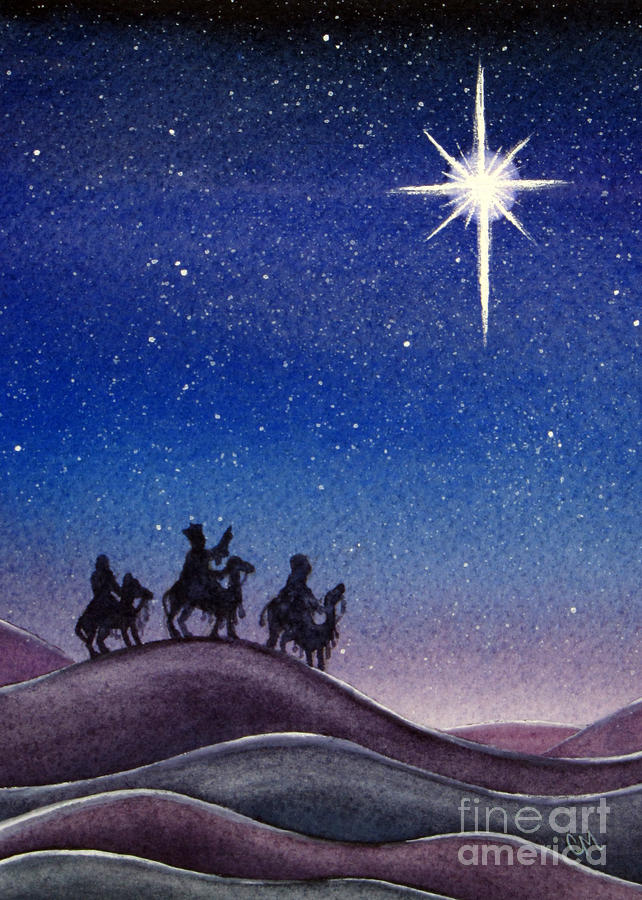 Christmas Painting - Wise Men by Christina Meeusen