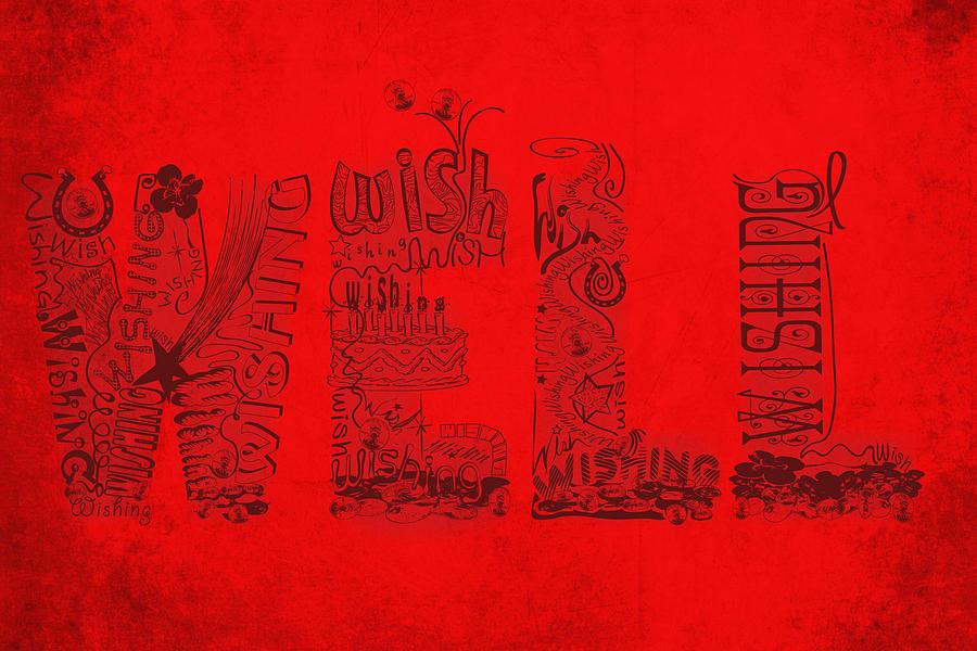 Wishing Well Digital Art - Wishing Well by Laura Brightwood