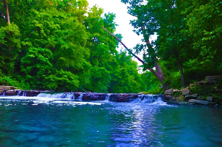 Philadelphia Photograph - Wissahickon Waterfall by Bill Cannon