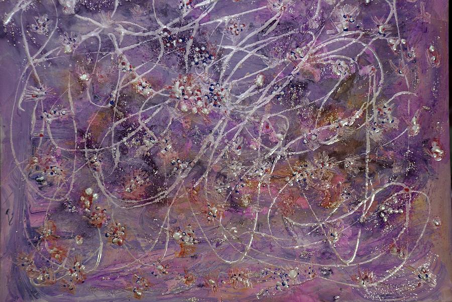 Wisteria Painting Painting - Wisteria Painting  by Don  Wright