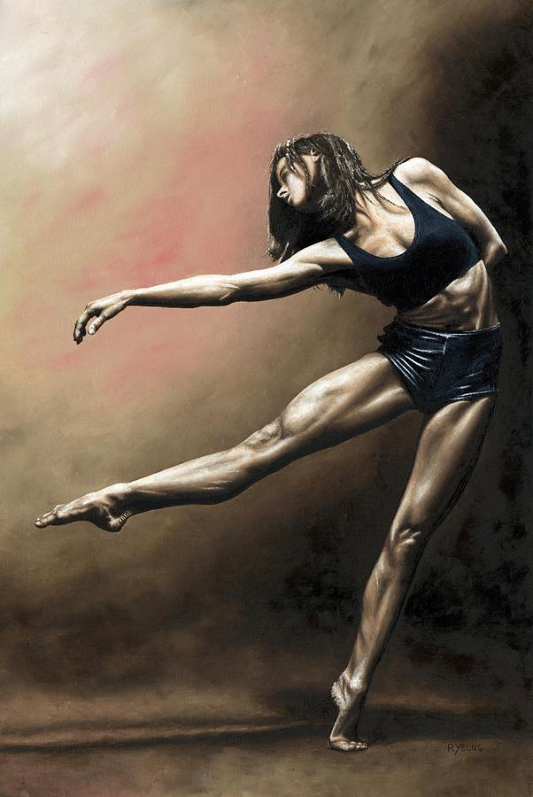 Dancer Painting - With Strength And Grace by Richard Young