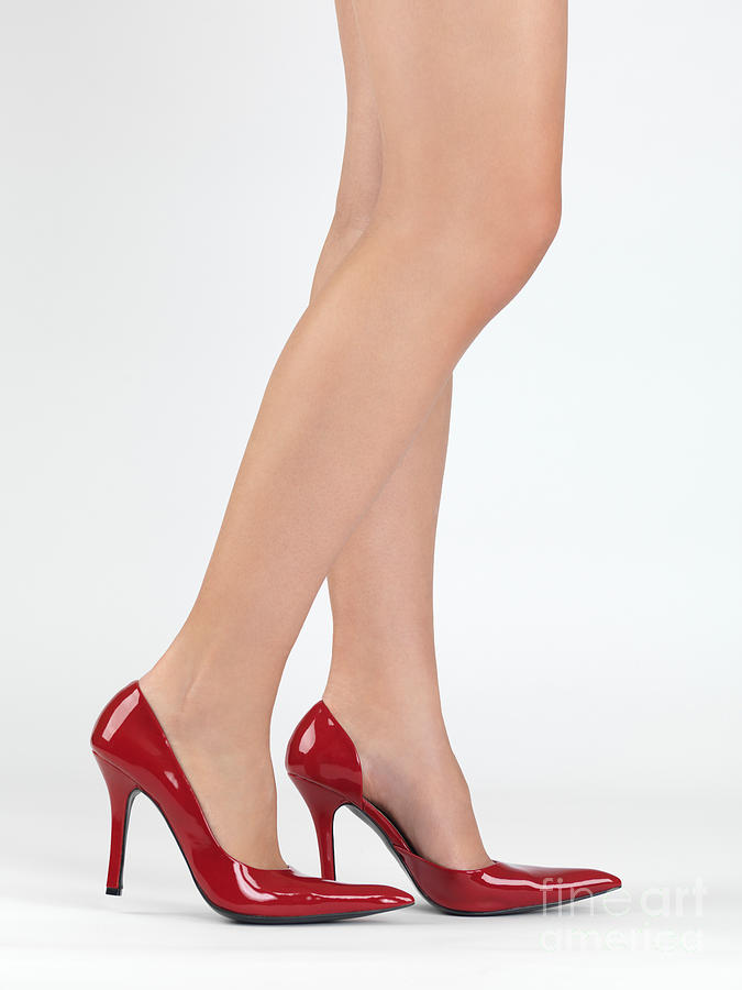 Woman Legs In High Heel Shoes Photograph