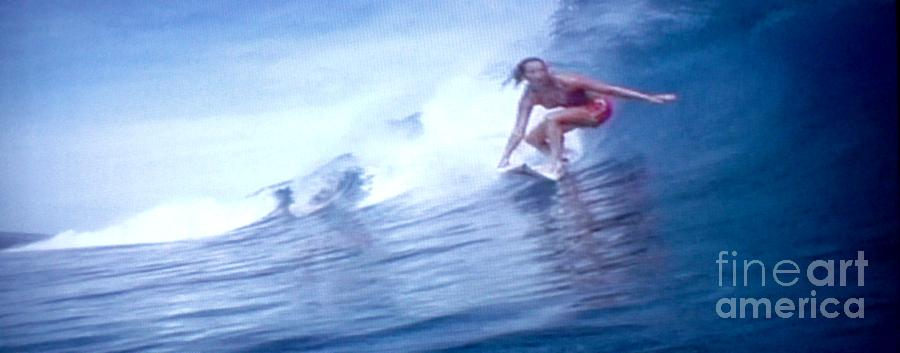 Woman Surfer Photograph - Woman Surfer by Stanley Morganstein