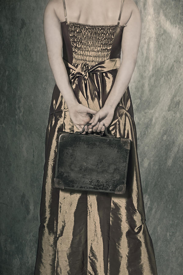 Female Photograph - Woman With Suitcase by Joana Kruse