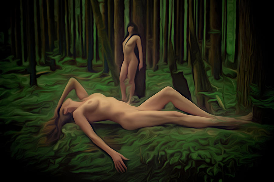Women In Nature Painting