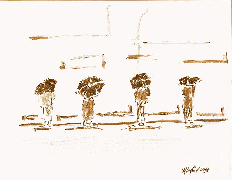 Women Painting - Women Of The Wailing Wall 2 by Richard W Linford