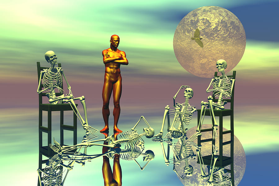 Bryce Digital Art - Women Waiting For The Perfect Man by Claude McCoy