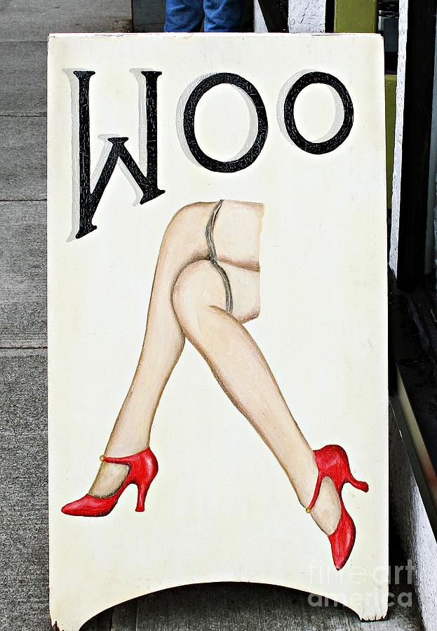 Sign Photograph - Woo by Ethna Gillespie