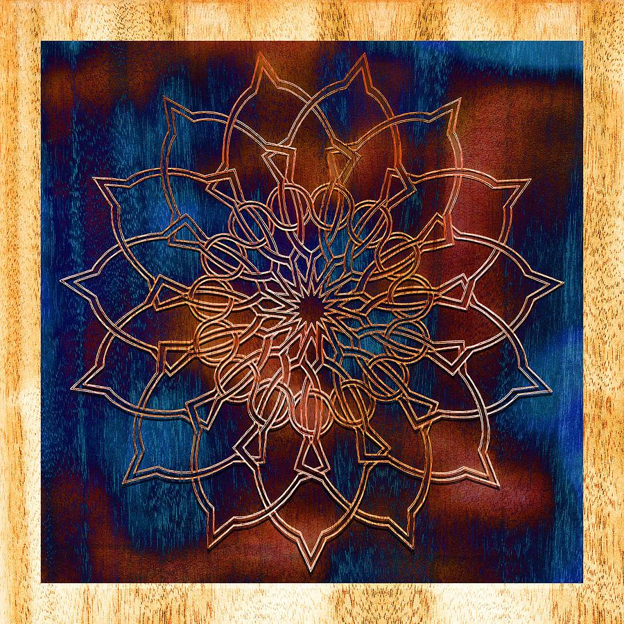 Mandala Drawing - Wooden Mandala by Hakon Soreide