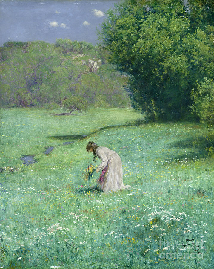 Woodland Painting - Woodland Meadow by Hans Thoma