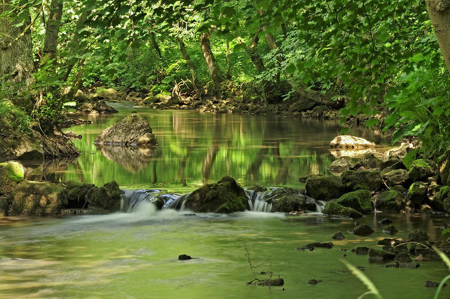 Woodland River Scene - Wolfscote Dale Photograph
