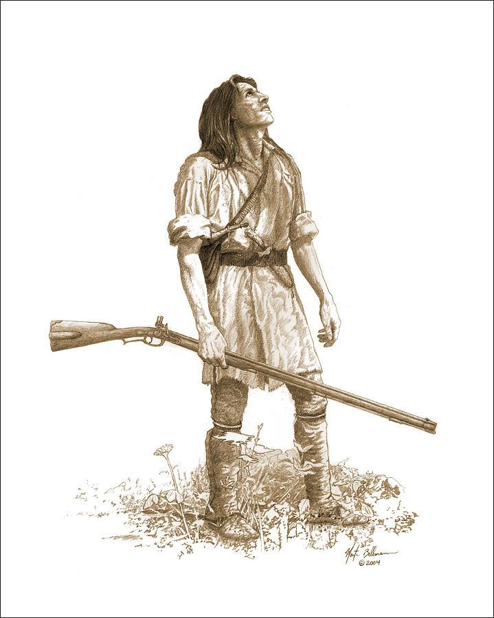 Woodsman Drawing By Martin Bellmann