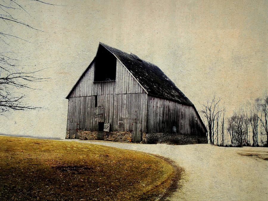Barn Digital Art - Work Wanted by Julie Hamilton