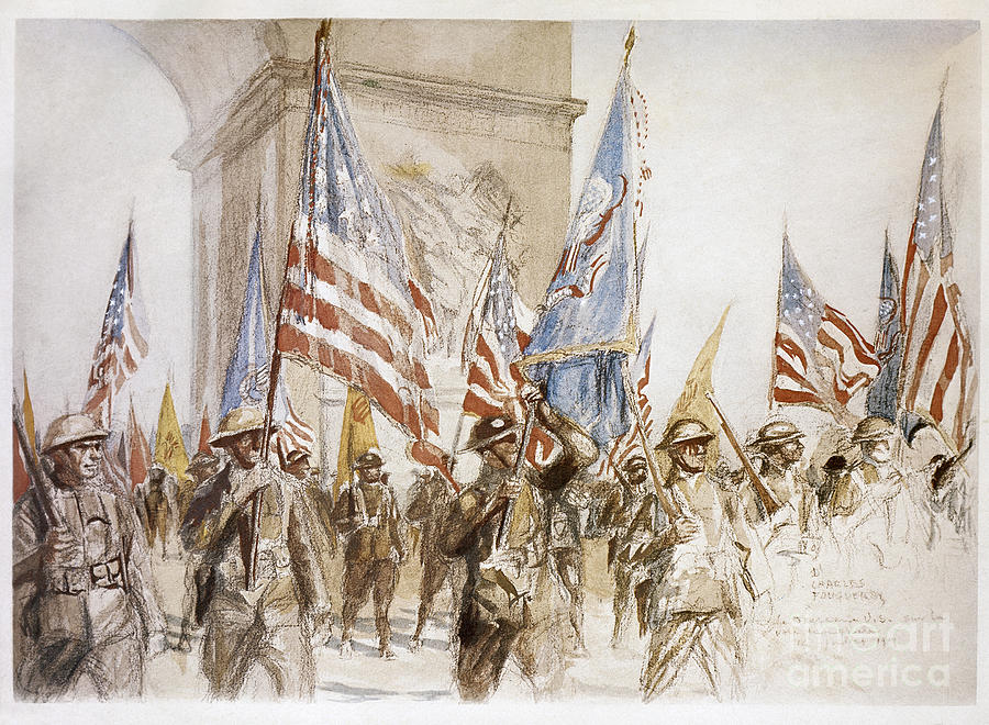 1919 Photograph - World War I: Victory Parade by Granger